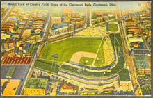 Load image into Gallery viewer, 1930's Crosley Field Reds MLB Baseball Stadium Postcard Vintage Sports Unposted