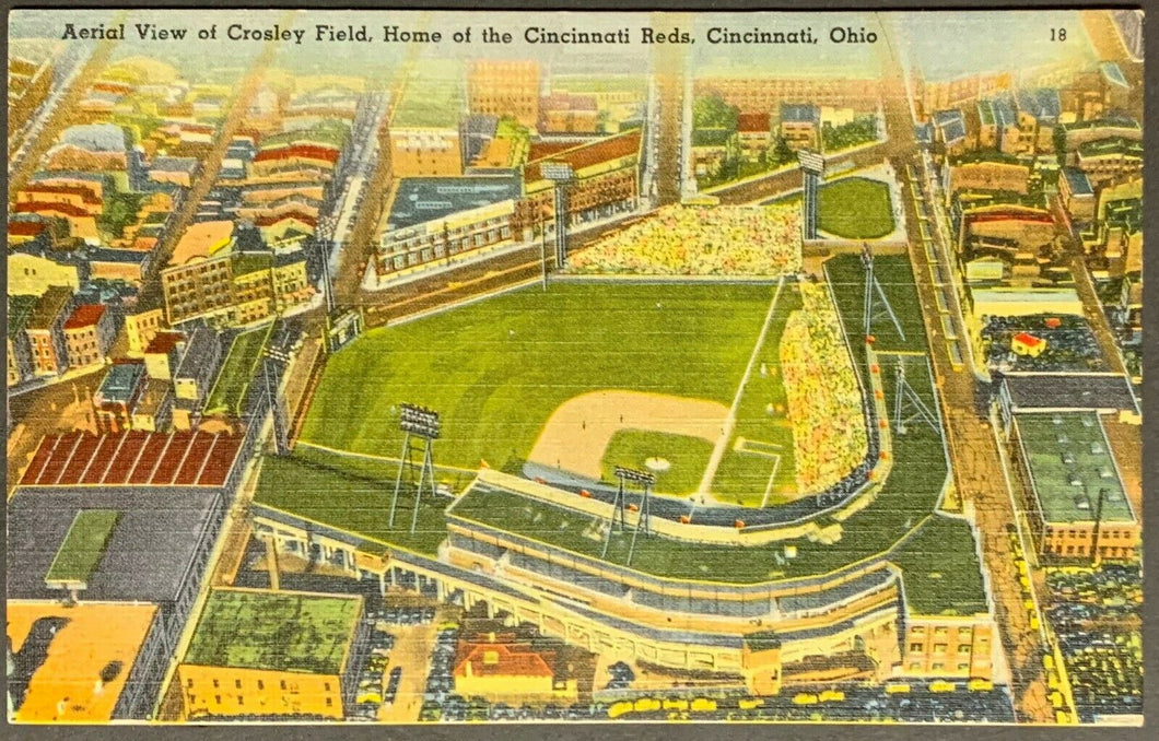 1930's Crosley Field Reds MLB Baseball Stadium Postcard Vintage Sports Unposted