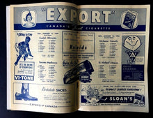 Load image into Gallery viewer, 1956 JR Hockey Program Maple Leaf Gardens VTG Biltmores Marlboros Canucks Majors