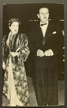 Load image into Gallery viewer, 1941 Walt Disney Vintage Original Press Photo Red Carpet Dumbo Premier With Wife