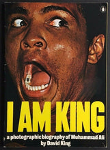 "Load image into Gallery viewer, 1975 ""I AM KING"" Boxer Muhammad Ali Colour Photo Biography by David King Boxing"