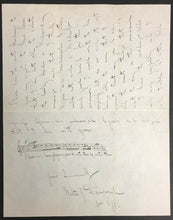 Load image into Gallery viewer, 1886 Walter Damrosch Signed Letter Composer Music New York Symphony JSA LOA