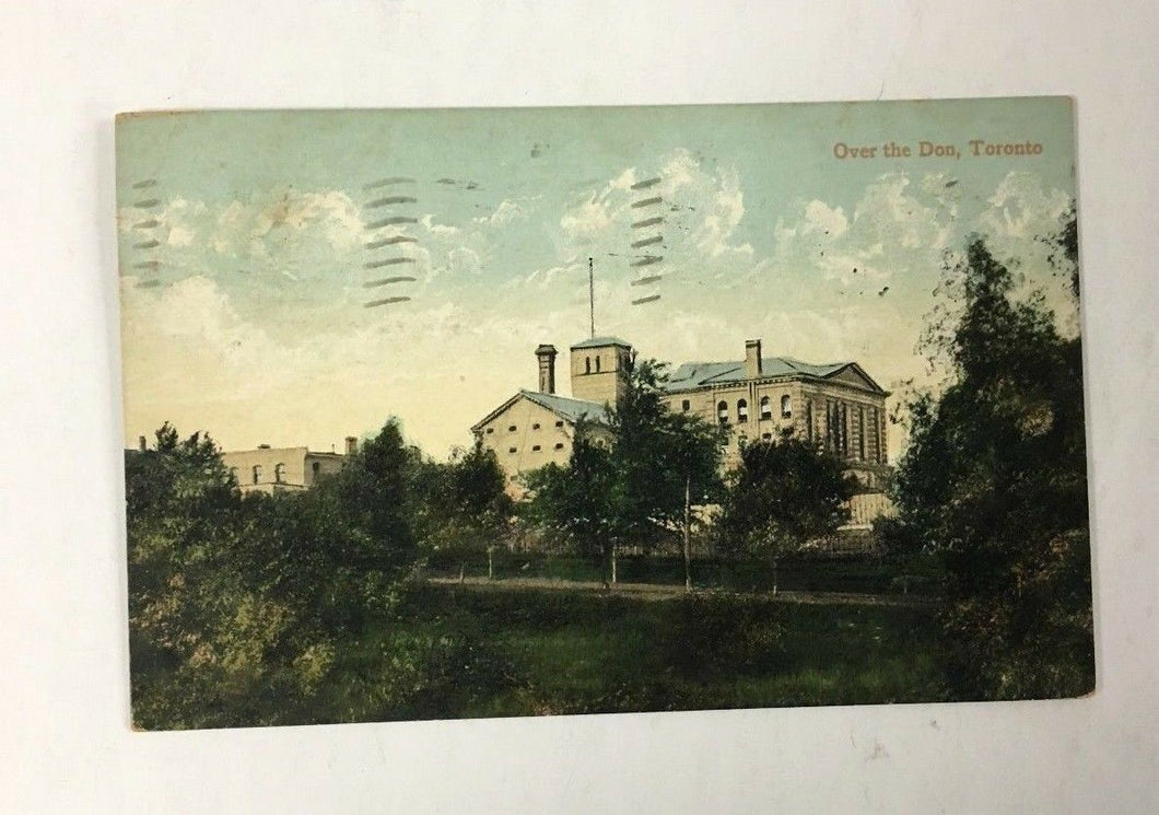 1908 Postmarked Rare Early Toronto Ontario Canada Postcard Don Jail