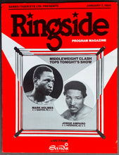 Load image into Gallery viewer, 1985 Mark Holmes vs Jorge Amparo Middleweight Boxing Ringside Program Magazine