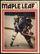 1975 NHL Hockey Vtg Program Toronto Maple Leafs Boston Bruins Rod Gilbert Cover