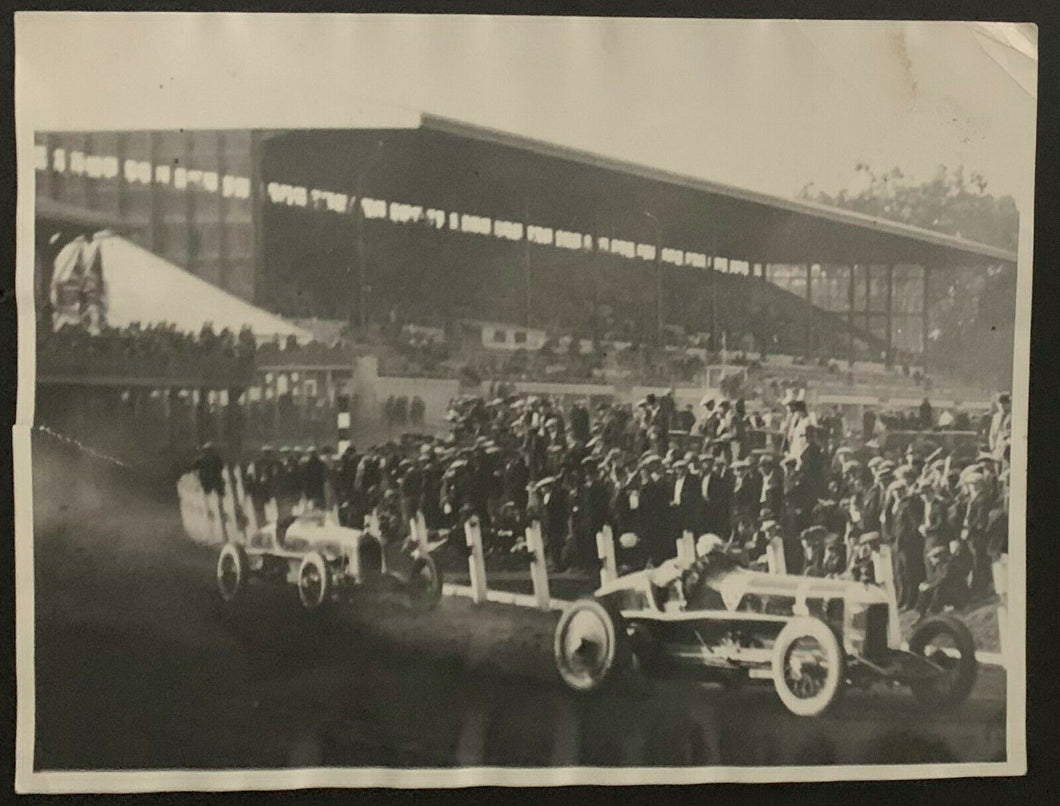 1924 Ralph DePalma Photo Auto Racing Legend Lapping Eddie Hearne Vintage Type 1