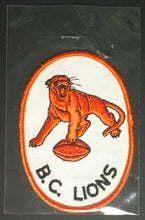 Load image into Gallery viewer, Vintage CFL Football B.C. Lions Jersey Crest Unused Patch British Columbia