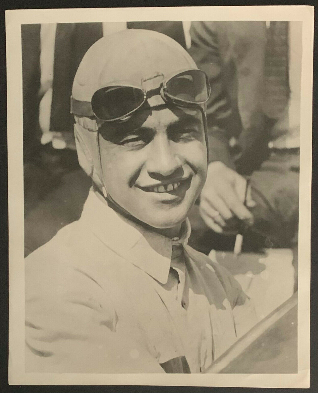1922 Peter De Paulo Photo Behind The Wheel Indianapolis Speedway Vintage Type 1