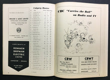 Load image into Gallery viewer, 1957 CFL Football Program Winnipeg Blue Bombers vs Calgary Stampeders Unscored