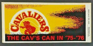 1975 Cleveland Cavaliers Bumper Sticker Decal Vintage NBA Basketball