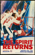 1985 NHL Hockey Exhibition Game Program Team Canada 1973 v Retired All-Stars