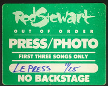 Load image into Gallery viewer, 1988 Rod Stewart Press Pass Concert Decal Out Of Order Album Tour Vintage