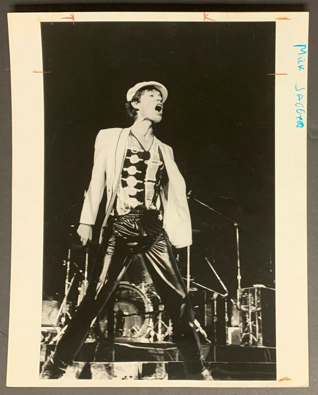 1978 Mick Jagger Rolling Stones North American Tour Lisa Tanner Photo Vintage