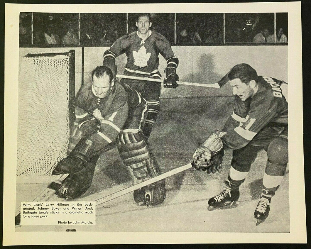 1960s NHL Hockey Photo Toronto Maple Leafs Heavy Stock John Maiola Hillman Bower