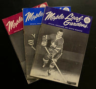 1963 NHL Hockey 3 Stanley Cup Finals Programs Toronto Maple Leafs vs Red Wings