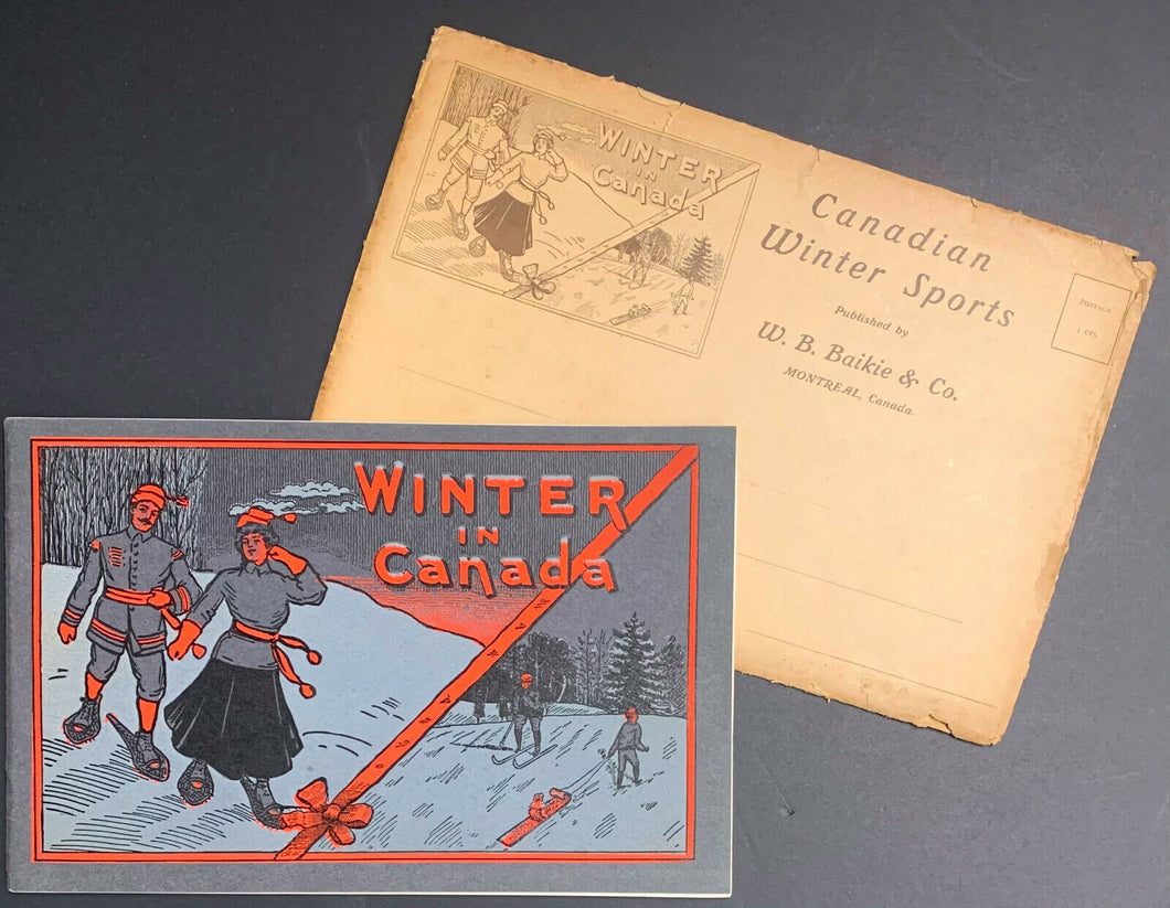 c1900 Canada Winter Sports Book With Photos + Hockey Stories + Vintage Mailer