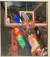 1994 Original Artwork for NBA Basketball Program Dominique Wilkins Atlanta Hawks