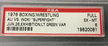 Load image into Gallery viewer, 1976 Muhammad Ali Antonio Inoki PSA EX-MT 6 Full Ticket Unused Boxing Wrestling