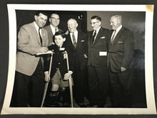 Load image into Gallery viewer, 1958 Maurice Richard + Conn Smythe Sports Celebrity Dinner Photo Ontario NHL