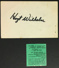 Load image into Gallery viewer, 1970 MLB Hoyt Wilhelm Signed First Pitcher Appearing 1000 Games Card + Ticket