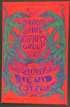 Load image into Gallery viewer, 1968 Bill Graham Presents Moby Grape Jeff Back Playbill @ The Filmore Post Card