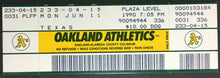Load image into Gallery viewer, 1990 Nolan Ryan 6th No Hitter Unused Game Ticket Oakland A's Texas Rangers MLB
