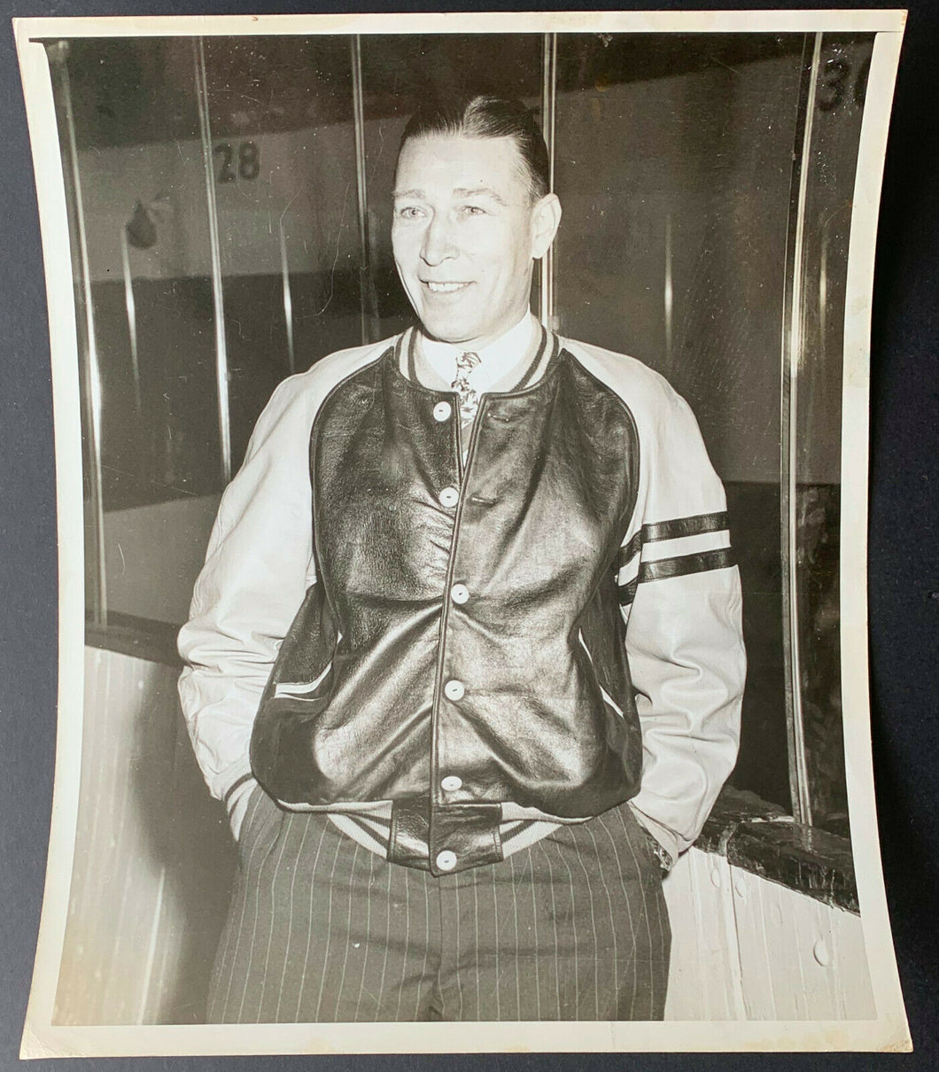 1940s Dit Clapper Type 1 Original Photo NHL Hockey Hall Of Famer Boston Bruins