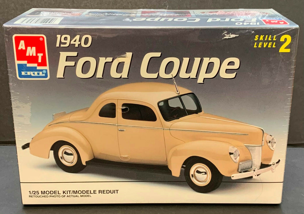 AMT 1940 Ford Coupe Scale 1:25 Model Kit Vintage Car Factory Sealed