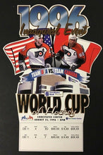 Load image into Gallery viewer, 1996 World Cup Hockey Ticket First Game USA Vs Canada CoreStates Center