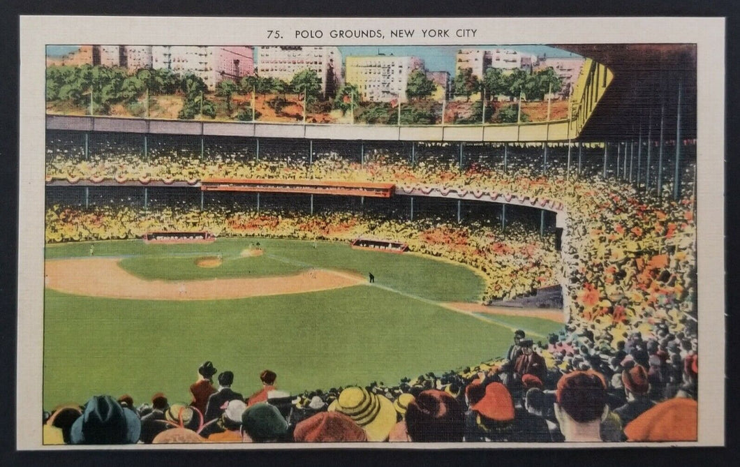 Circa 1930's Polo Grounds Field Stadium Unused Baseball Postcard New York USA