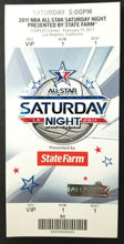 Load image into Gallery viewer, 2011 NBA All Star Basketball Saturday Night Full Promo Ticket Staples Center