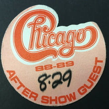 Load image into Gallery viewer, 1988 Chicago Concert Tour Backstage Pass Kingswood Music Theatre Canada