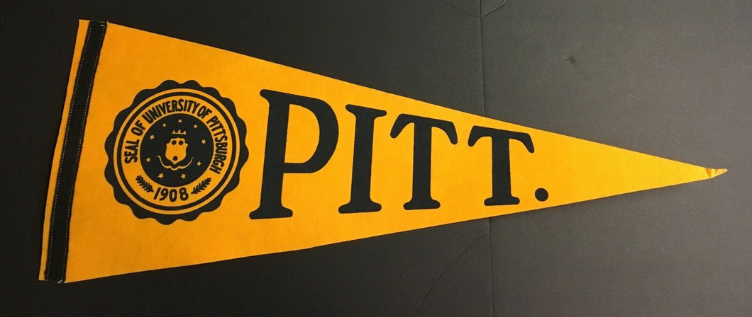 Vintage University Of Pittsburgh Pennant Pitt Panthers NCAA Full Size 30