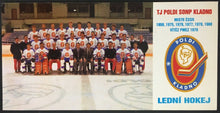 Load image into Gallery viewer, 1980 Czechoslovakia Championship Hockey Team Photo Postcard Vintage