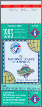 Load image into Gallery viewer, 1993 World Series Baseball Ticket Game 6 Joe Carter Walk Off Home Run Historic