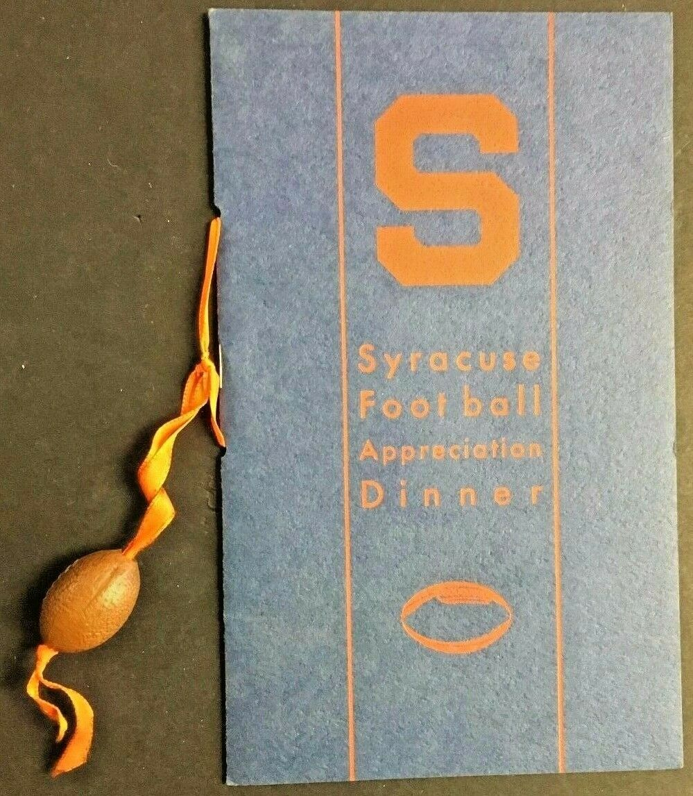 Rare 1934 Syracuse University NCAA Football Team Appreciation Dinner Program