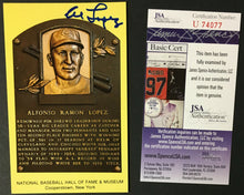 Load image into Gallery viewer, Al Lopez Signed Autograph Baseball Hall Of Fame Plaque Card Chicago JSA