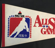 Load image into Gallery viewer, 1982 NHL Hockey All Star Game Pennant Capital Centre Feb 9 USA Full Size 29""