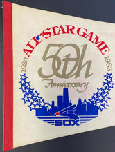 Load image into Gallery viewer, 983 MLB All Star Game 50th Anniversary Baseball Pennant Vintage White Sox