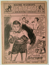 Load image into Gallery viewer, 1945 Maurie Waxman's Fight Facts A Semi-Monthly Knockout Magazine Freddie Archer