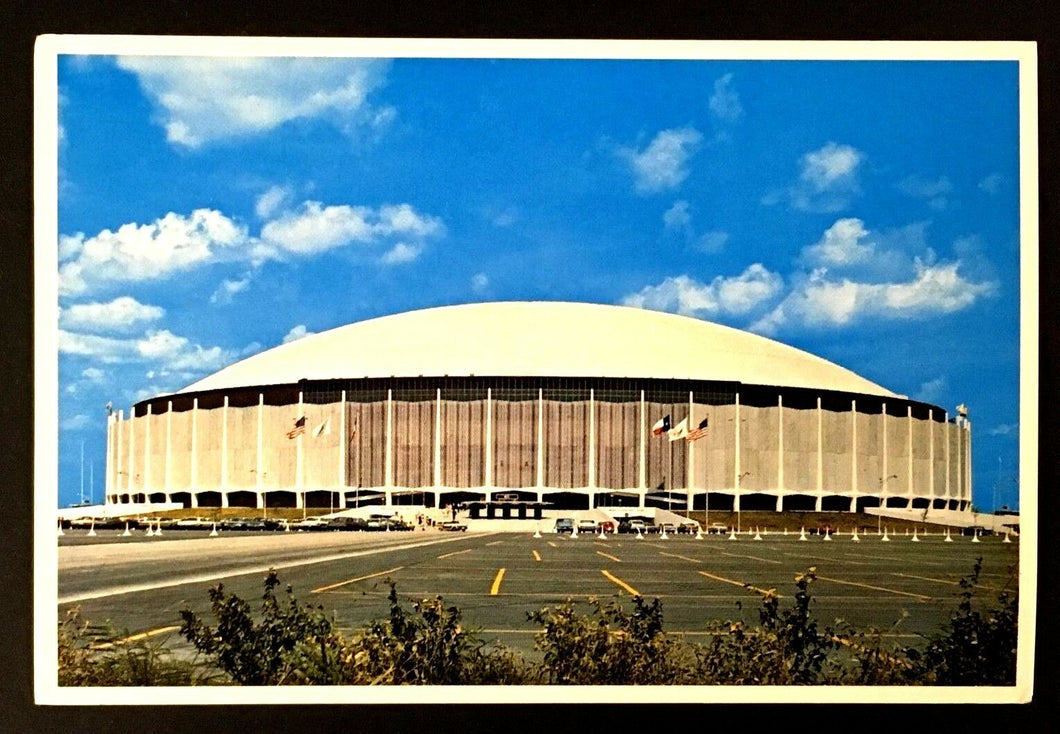 The Astrodome Houston Texas Football Vintage Postcard