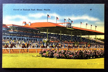 Load image into Gallery viewer, 1930 Hialeah Park Race Track Flordia Postcard Racing