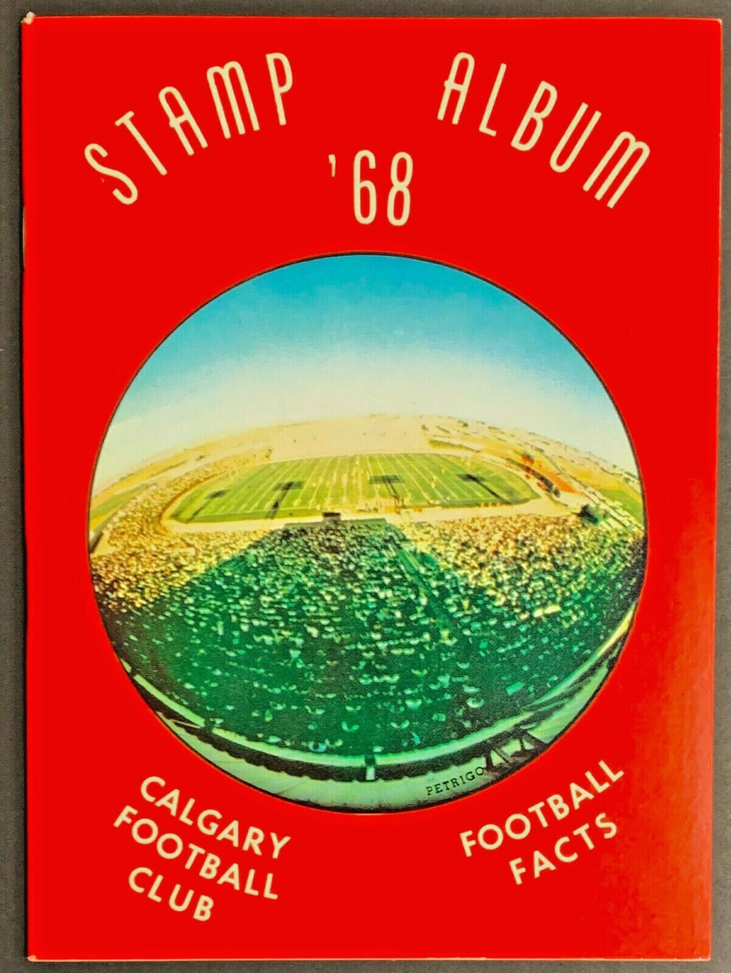 1968 Calgary Stampeders CFL Football Media Guide Yearbook Stamp Album + Mailer