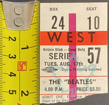 Load image into Gallery viewer, Aug 17 1965 Beatles Concert Ticket Stub Maple Leaf Gardens CHUM Chart Contest