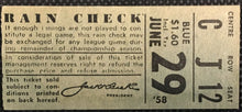 Load image into Gallery viewer, 1958 Toronto Maple Leafs Baseball Ticket Stub Vintage International League IL