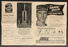 Load image into Gallery viewer, 1951 CFL Football Program Ottawa Rough Riders vs Hamilton Tiger-Cats Vintage