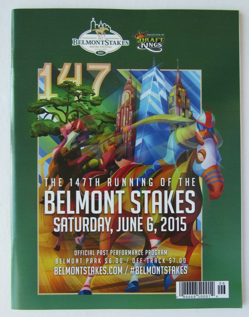 2015 Belmont Stakes American Pharoah Triple Crown Winner Program Horse Racing