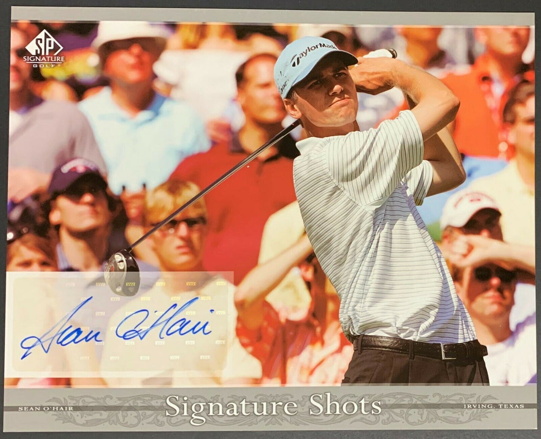 2005 SP Signature Shots Sean O'Hair Golf AUTO Signed 8x10 UDA Upper Deck