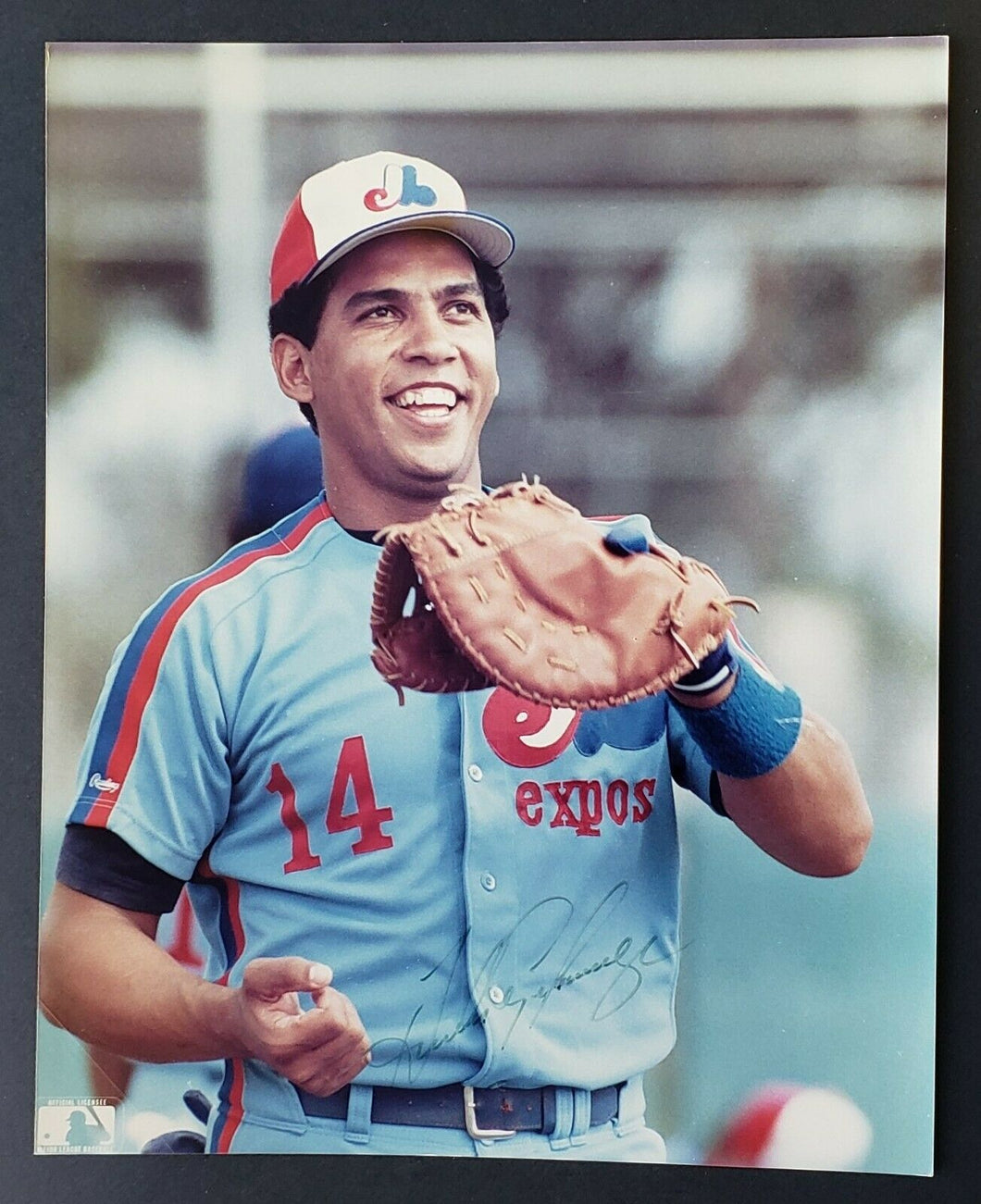 MLB Montreal Expos Andres Galarraga Signed Autographed Photo Vintage Baseball