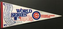 Load image into Gallery viewer, 1984 Chicago Cubs World Series NL Champions Scroll Pennant MLB Team Roster